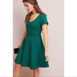 Anthro Maeve Green Moore Dress Size Small Petite